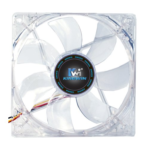 Kingwin 80mm CFBL-08LB Silent Fan, For Computer Cases, CPU Coolers, Long Life Bearing, Quiet Efficient Cooling, and Provide Excellent Ventilation for PC Cases-[Blue LED]