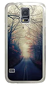 Samsung Galaxy S5 Beautiful Autumn Road53 PC Custom Samsung Galaxy S5 Case Cover Transparent
