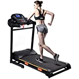 Goplus 1000W Folding Electric Treadmill Motorized Power Treadmill Portable Running Gym Fitness Machine