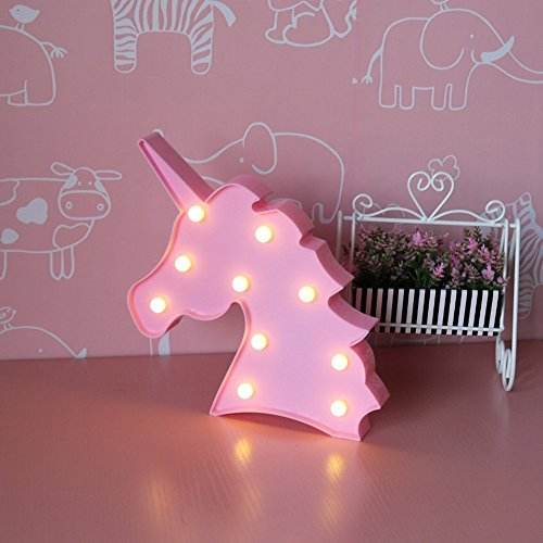 Unicorn LED Night Lamp Decorative Marquee Signs Light-Wall Decoration for Living Room,Bedroom(battery Opearted) (Unicorn Head) by Glintee (Image #1)