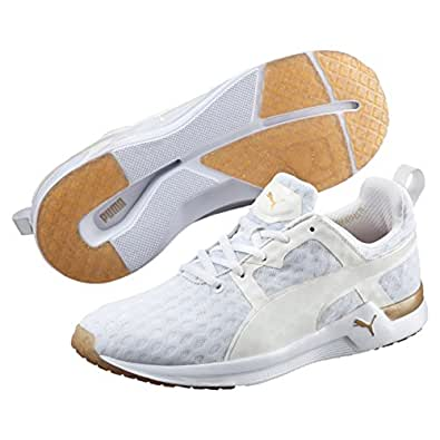 PUMA Women's Pulse Xt V2, White,Gold, 6 US Running Shoes