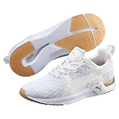 PUMA Women's Pulse Xt V2, White,Gold, 6 US Running Shoes