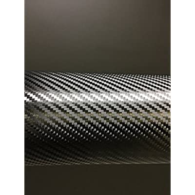 VViViD+ Premium Black Carbon Fiber Vinyl Wrap Film (1.49ft x 5ft): Automotive