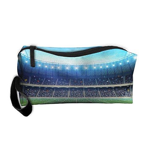 Coin Pouch Football Sports Stadium Pen Holder Clutch Wristlet Wallets Purse Portable Storage Case Cosmetic Bags Zipper