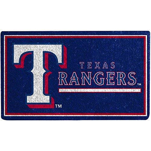 Team Sports America Graphic Print Coir Mat, 18x30, Texas Rangers