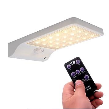 blinkle Luz solar con sensor de movimiento, 48 ledes, luz solar de pared con