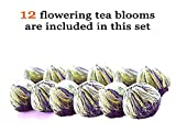 Tea Beyond Flowering Tea Healing Yoga 12cts Black Blooming Tea Iced or Hot Blooming Tea Daily Drink Workout Weight Management 100% Natural Vegan Friendly Non-GMO