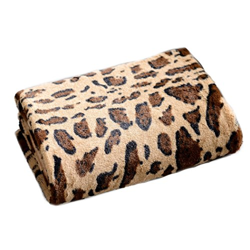 Cheer Collection Animal Print Throw Blanket | Soft Velvety Faux Fur Microplush Reversible Cozy Warm Throw Blanket - 60