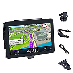 GPS Navigators System,WinnerEco Portable Navigation Car Truck Driver GPS Navigator 7inch Touchscreen with Free Maps Updates Voice Recognition