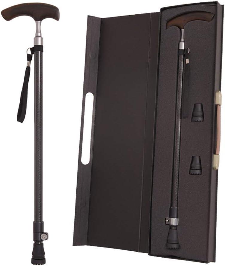 安全で信頼性の高い昔ながらの松葉杖超軽量品質カーボンファイバーステッキ木製ハンドルT字型ステッキ高齢者