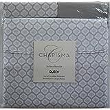 charisma microfiber 6pc queen sheet set morocco silver