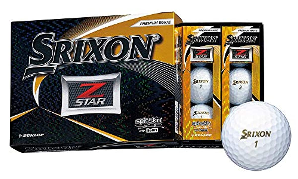 [해외] DUNLOP(던롭) 골프 볼 SRIXON Z-STAR 골프 볼 2019년 모델 1다스(12개 들이)