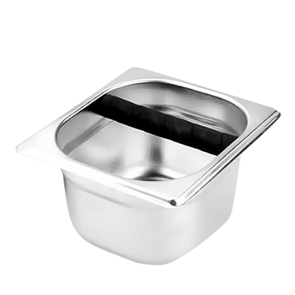 Baoblaze Stainless Coffee Knock Box Espresso Container Recycle Holder 10cm