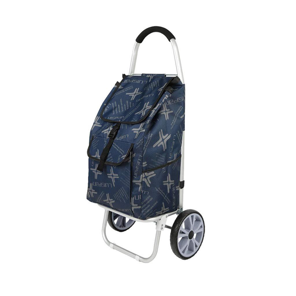 ショッピングカートショッピングトロリーショッピングバッグ食料品の折り畳み式カート荷物カート市場ショッピングカート軽量トロリー B07KFC6YH9