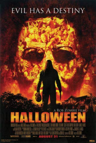 Hotstuff Halloween (2007) Movie Poster Rob Zombie Michael Myers Scary Horror Movie -