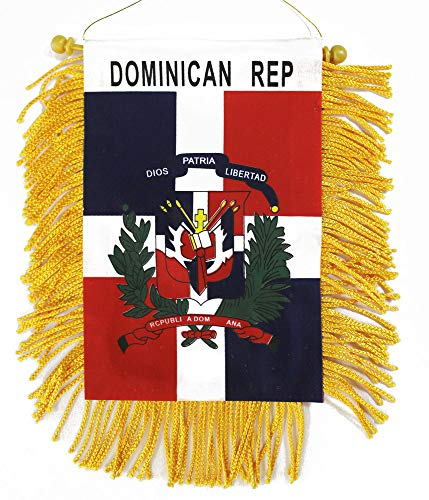 Dominican Republic - Window Hanging Flag