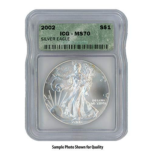 2002 American Silver Eagle $1 MS70 ICG