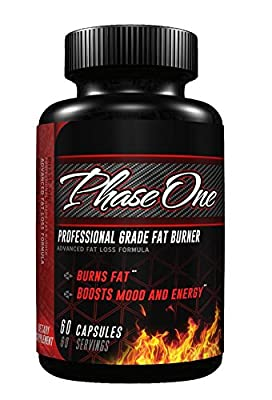 JCM Nutrition Phase One Pro-Series Thermogenic Fat Burner and Appetite Suppressant, 60 Capsules