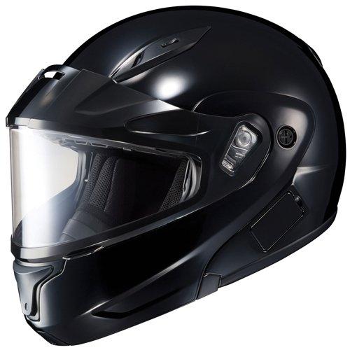 HJC CL-Max II Solid Black Modular Snowmobile Helmet - Large ()