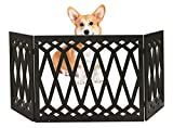 Cheap Kleeger Freestanding Folding Dog Gate – For Small Pets [Diamond Deco'r Decorative Design] No Tools Required (Black Diamond)