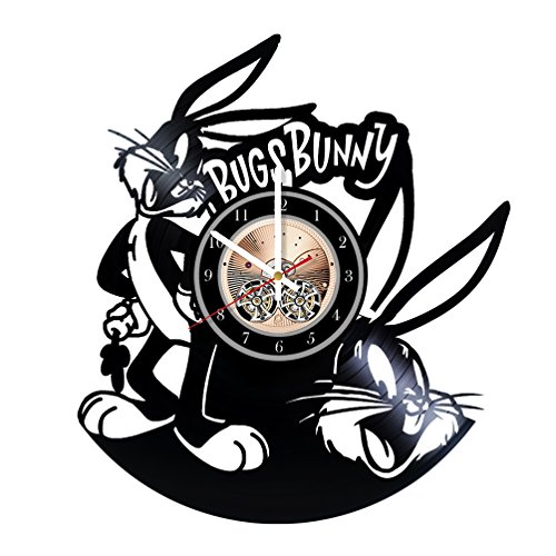 Bugs Bunny Vinyl Record Wall Clock - Really The Most Original Gift for Him and Her - Perfect Element of The Interior and Amazing Home Decor Idea