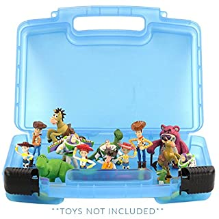 Life Made Better Toy Story Case, Toy Storage Carrying Box. Figures Playset Organizer. Accessories for Kids by LMB