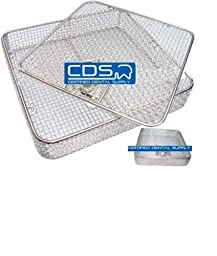 FULL WIRE MESH BASKET WITH HINGED REMOVABLE LID LOCK