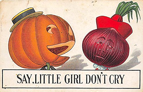 Say, Little Girl, Don't Cry Halloween Postcard Old Vintage Post Card ()