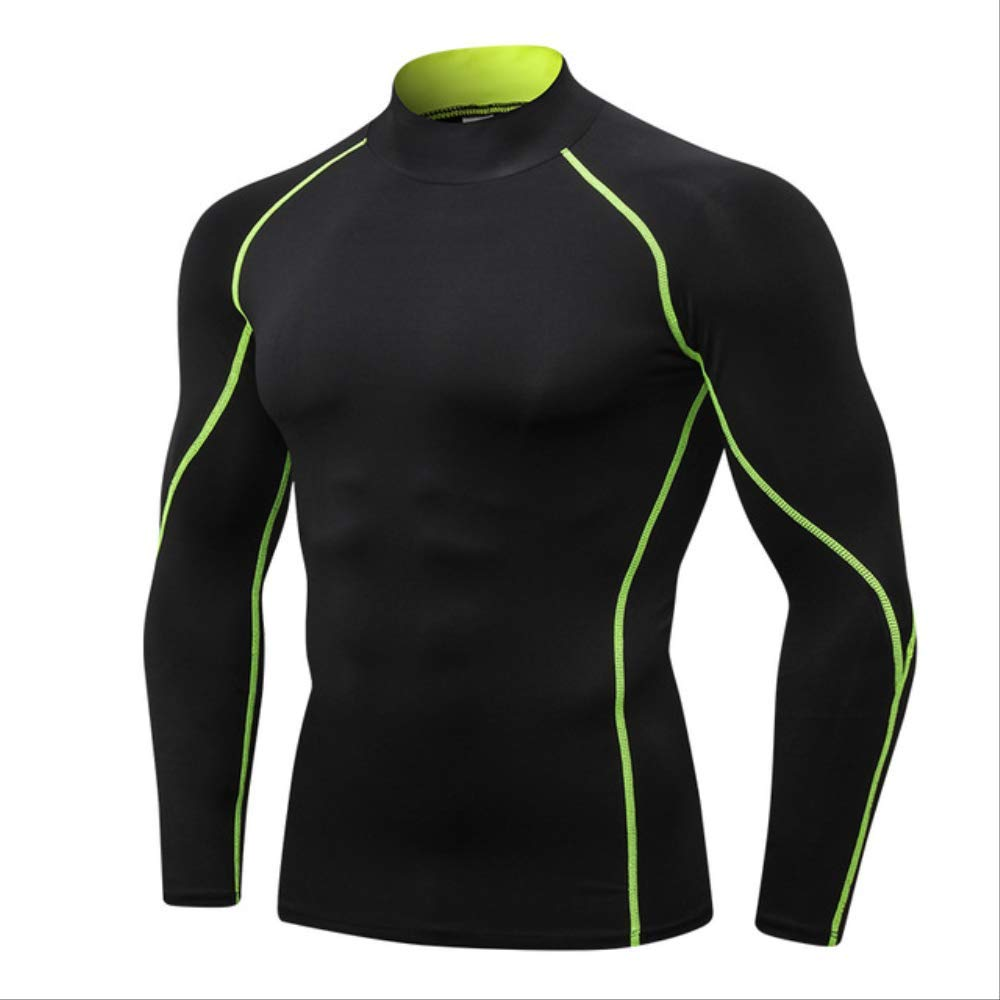noir vert line L NUASH Design Nouveau T-Shirt Compression Body Building Jogging Jersey Sport Shirt Hommes VêteHommests De Plein Air FonctionneHommest Shirt