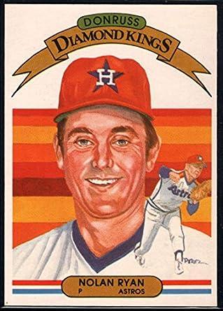 Amazoncom Baseball Mlb 1982 Donruss 13 Nolan Ryan Dk Astros