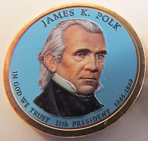 2009 Various Mint Marks Polk Presidential Colorized Dollar Choice Uncirculated
