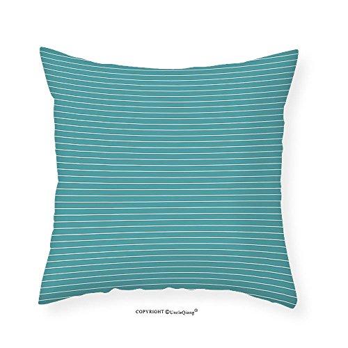 VROSELV Custom Cotton Linen Pillowcase Green White Stripes Art Work for Bedroom - Living Room Bedroom Dorm Decor - One of a Kind - Machine Washable - Shiny Silky Saten 22