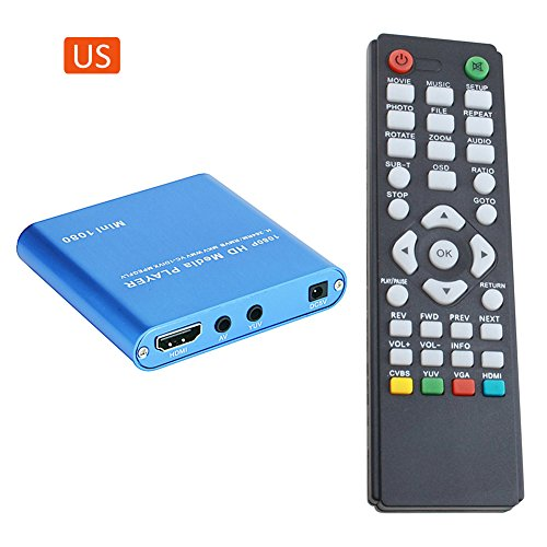 1080P Mini Media Player with HOST USB/SD Card Reader (Blue) - 5