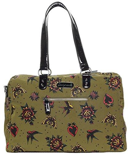 (Sourpuss Hearts & Roses Travel Bag)