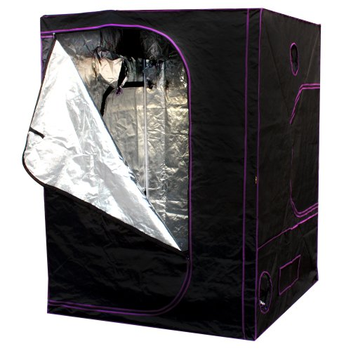 "518pNKJ2BOL Apollo Horticulture 60""x60""x80"" Mylar Hydroponic Grow Tent for Indoor Plant Growing"