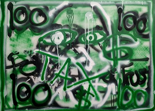(MAD MONEY MADNESS xxl Large Original Abstract Acrylic Painting 40