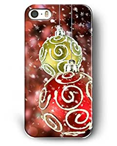 Showtime Iphone Case For Iphone 5/5s Christmas Gifts Crimson Christmas Balls and Snowflakes