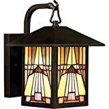 Quoizel One Light Outdoor Wall Lantern TFIK8407VA, Small, Valiant Bronze