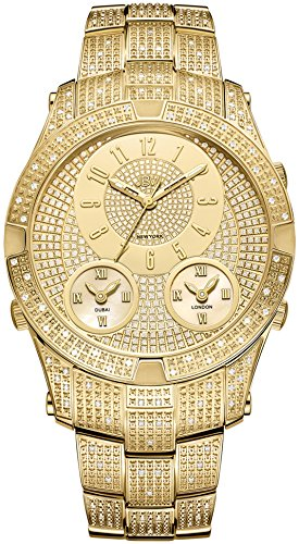 JBW Men's J6348A Jet Setter III 1.50 ctw 18k gold-plated stainless-steel Diamond Watch