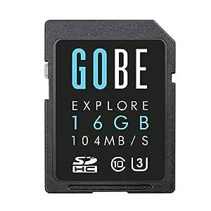 Gobe 16GB SDHC Velocidad de Lectura: 104MB/s Velocidad de Escritura: 70MB/s UHS-3 Tarjeta de Memoria SD