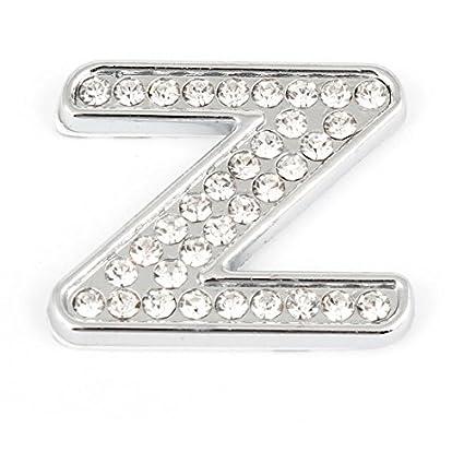 Amazoncom Metal 3d Inglês Letter Z Em Forma De Etiqueta Do Carro