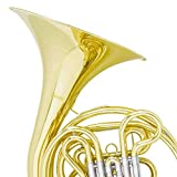Mendini Intermediate Key of F/Bb Double French Horn