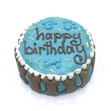 Amazon Bubba Rose Happy Birthday Dog Cake Blue Pet Supplies