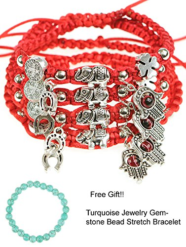 Good Luck Hand Symbol Charm (RufNTop Lucky Red String and