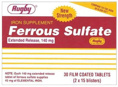 FERROUS SULF ER TABS 140MG*RUG Size: 30 Review