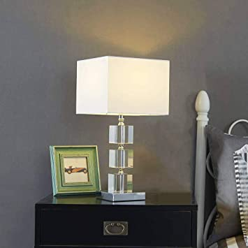 Delica Home 18 5 High Stacked Crystal Table Lamp Side Table Lamp