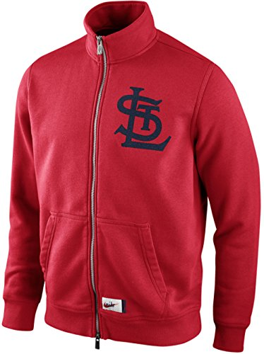 - NIKE St Louis Cardinals Cooperstown Washed Texture MLB Full Zip Track Jacket (Medium, Red)