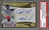 Ryan Howard and Justin Leone AUTO Signed - Autographed 2005 Upper Deck Reflections Baseball Card - PSA 9 Mint - Philadelphia Phillies