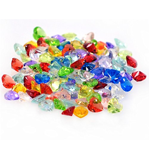 Heart Shaped Birthstones Charms Set for DIY Locket Jewelry Making, 120PCS (Multi Color Gemstone Heart)