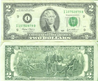 SCARCE Series 2003 $2 Bill -- Federal Reserve Note -- Bank of Minneapolis